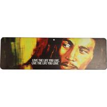 Placa Decorativa Bob Marley Reggae 10x34