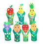 Fantoches Frutas Em Feltro Eva Com 7 Personagens 1215 Carlu