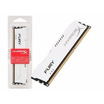 Memória Kingston 4gb 1600mhz Ddr3 Hyperx Fury White Series