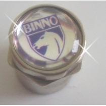Bico Pneu/roda Cromado Ante Furto Aro Logo/logomarca Binno