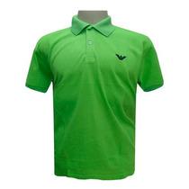 Camisa Polo Armani Verde Limão Ref Ea41