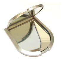 Kit 12 Unidades Espelho De Bolsa Espelho Dois Lados Prata