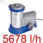 Bomba Filtrante Piscina Inflável 5678 L/h Bestway Filtro 110