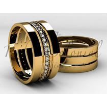 Aliança De Ouro, Diamantes, Joias De Qualidade. Promoção!!