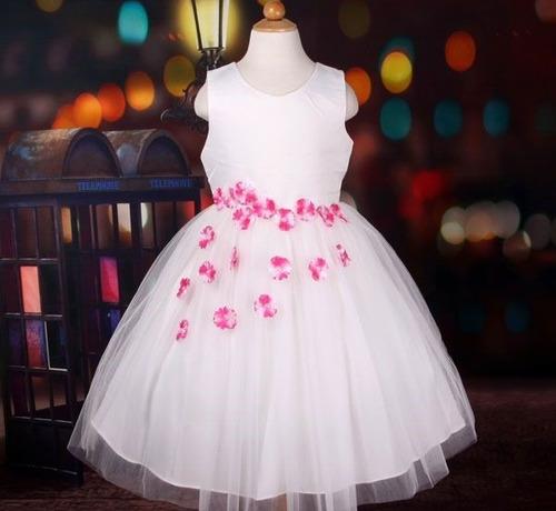 5c22a2a43 Vestido Infantil Festa Daminha Florista Flores Na Saia R$129 lWbo5 ...