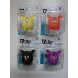 Furby 4 Mini Figuras Amarelo Laranja Preto E Lilás - Hasbro.
