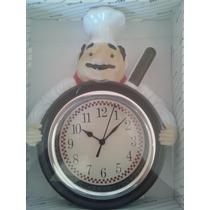 Relógio De Parede Frigideira Cozinheiro Relógio Cozinha