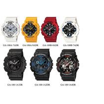 Relógio Casio G-shock Ga 100 Wr200 H.mundial 5 Alarmes Pt
