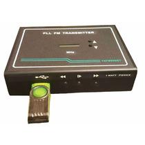 Transmissor De Fm Pll Estéreo, 1 Watt, Com Entrada Para Usb