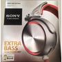 Fone De Ouvido Sony Supra Auricular Prata/vermelho Mdr-xb920