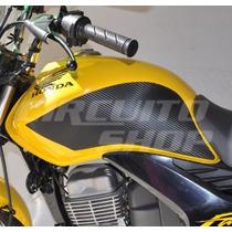 Protetor De Tanque Lateral P/ Honda Titan Fan 150 Ano 10-13