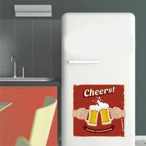 Adesivo Decoração Parede Geladeira Copo Chopp Cerveja Cheers