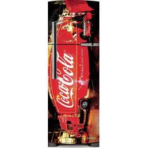 Adesivo Geladeira Coca Cola Caminhão # 47 (porta Inverse)