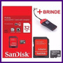 Cartão De Memória Micro Sd Sandisk 32gb +leitor+frete Grátis