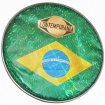 Pele 10 Polegadas Pandeiro Bandeira Brasil Contemporânea 44p