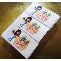 10 Etiquetas De Tecido Personalizadas 5x2,5cm