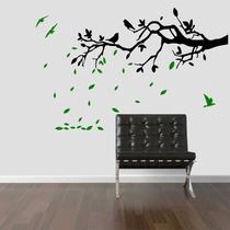 Adesivo Decorativo Parede Sala Aévore Galho Pássaro Folhas