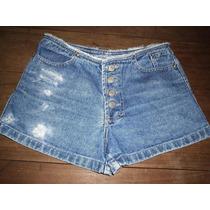 Shorts Jeans Cintura Alta Retro Tamanho 38