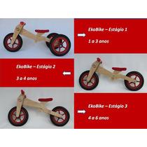 Triciclo De Madeira Infantil - Triciclo 3 Em 1