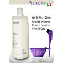 Ox 10 Vol. 1000ml Tec Italy Produto Importado-agua Oxigenada