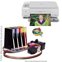 Bulk Ink Para Impressora Hp C3180 Com Presilhas Especiais