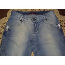 Linda Calça Em Jeans Cintura Baixa Corte Reto Marca Gallon