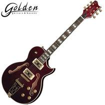 Guitarra Semi-acústica Tampo Maple Cap. Duplo Gsh 570 Golden