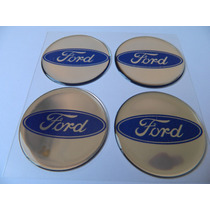 Adesivo Resinado De Calota Ford Prata