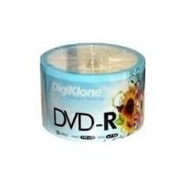 50 Dvd-r Digiklone Midia Virgem Com Logo 8x 4.7g Lacrado
