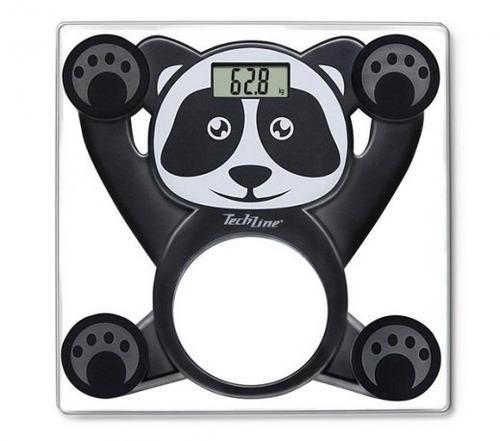 Balança Digital Techline Balkids Panda Vidro Até 150 Kg Kids