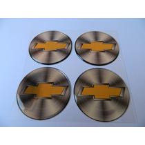 Adesivo Resinado De Calota Gm Prata Dourado