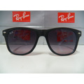 Óculos De Sol Wayfarer Preto Branco Lente.cinza