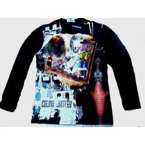 Camisa Manga Longa Hipster Rock Gainings Blusa Tam M