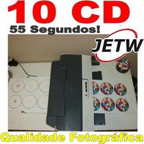 Kit Bandeja 10 Cd Dvd Bluray T1110 Epson Impressora Adaptada