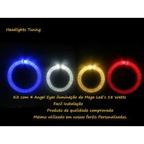 Kit Com 4 Angel Eyes Mega Led Tuning Sob Medida Astra