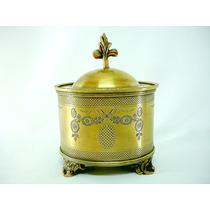 Porta-jóias Potiche Em Fino Bronze Italiano Raridade Séc Xlx