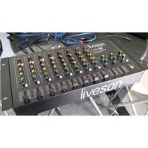Mesa De Som Mixer Liveson 8 Canais Cmx08 - Muito Conservada