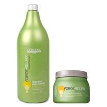 Kit Loréal Force Relax Shampoo & Máscara Nutri-control