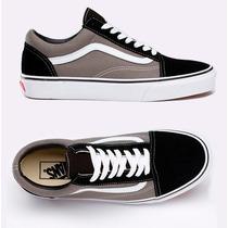 Tênis Vans Old Skool Pewter Casual Skate Black Preto E Cinza