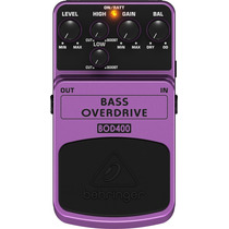 Pedal Para Baixo Behringer Bass Overdriver Bod400