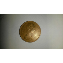 Inglaterra Moeda 2 New Pence 1971 Antiga Frete Grátis