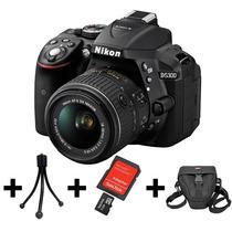 Camera Nikon D5300+lente 18-55mm+32gb+bolsa+tripé