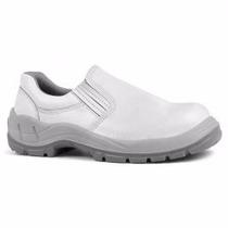 Sapato De Segurança Branco - Bico Pvc - Solado Bi - Bracol