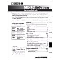 Manual Boss Me-70 Português - Em Pdf - Envio Imediato Email