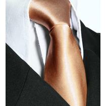 Gravata Dourada Tradicional Com Nó