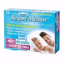Dilatador Nasal Respire Melhor - Anti Ronco Médio 10 Und