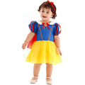 Fantasia Princesa Branca De Neve De Luxo P/ Bebê Baby C/capa