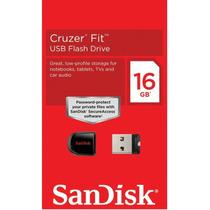 Kit Com 10 Unidades Micro Pen Drive Sandisk Cruzer Fit 16gb