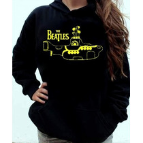 Blusa Moletom The Beatles Yellow Submarine Canguru Com Capuz