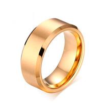 Aliança De Casamento Noivado Grossa Banhada Ouro Dourada